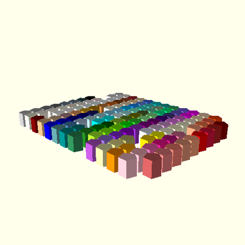 File:OpenSCAD linux i686 mesa-dri-r300 wicr opencsgtest-output testcolornames-actual.png