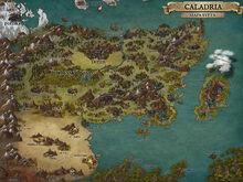 Caladria Mapa Světa