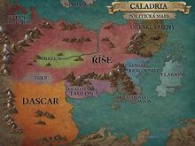 Caladria politická mapa