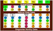 National Week Date Calendar A 2013-05-22