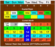 National Week Date Calendar 2013-05-20