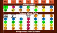 National Week Date Calendar B 2013-05-22