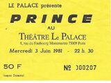 Paris, Le Palace, 3 jun 1981