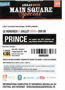 2010 arras ticket