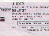 Paris, Le Zenith, 21 aug 1998