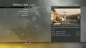 MW2 Spec Ops Menu Alpha Ops