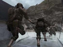 A med Rangers hit the beaches