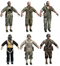 American character models WaW