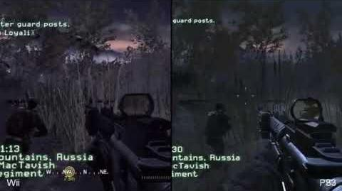 Call of Duty 4 Wii vs. PS3 Graphics Comparison (High Quality Version)