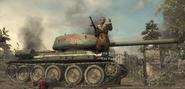 Reznov Standing on T-34 WaW
