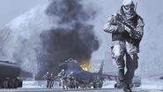 Russian Troops Cliffhanger MW2