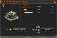 Gold Miner Level 6 Upgrade Stats CoDH