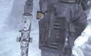 Soap's holstered M1911 Cliffhanger MW2