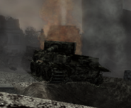 Tiger tank destroyed CoD WaW FF