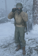 Binoculars Soldier Bulge WWII