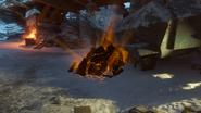 Gniew starozytnych ogien skała wulkaniczna