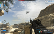 Attack Helicopter over Desert Border CoDO