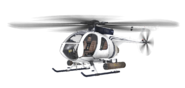 MH-6 Little Bird White model MW3