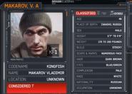 Vladimir Makarov dossier MW3