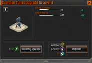 Guardian Turret Level 4 Upgrade Stats CoDH