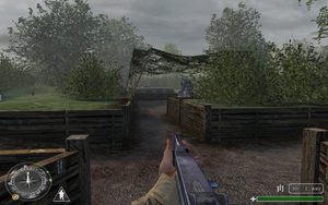 Gun 1 trench 1 Brecourt Manor CoD1