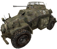 Sd. Kfz 222 camouflaged cut WaW