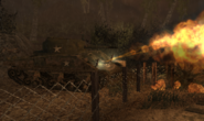 Sherman using its Flamethrower CoD WaW FF