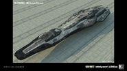 UN Cruiser Concept Art by Young Kim IW
