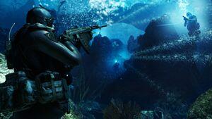 Cod-ghosts underwater-ambush