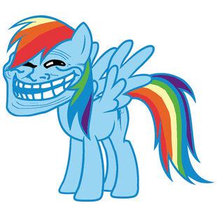 Rainbow dash trollface