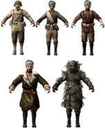 Russian character models WaW