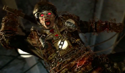 Brutus attacking Mob of the Dead BOII