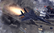 F-15 Eagle attacking the Gulag MW2
