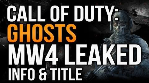 """N7/""""Reliable source"""" leaks details on next-gen Call of Duty"""