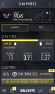 COD AW (app) Clan Profile - Summary - Full View