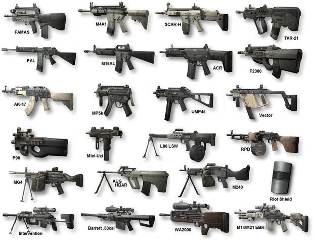 File:Weapons of MW2 (Primary) RPD and FAL.jpg
