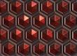 Красные соты-ретро иконка
