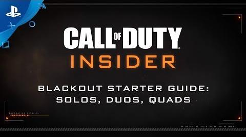 """Call of Duty Black Ops 4 – Blackout """"Solos, Duos, Quads"""" PS4"""