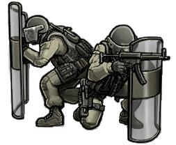 Riot shield squad emblem mw3