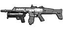 Scar-L Singleplayer HUD MW3