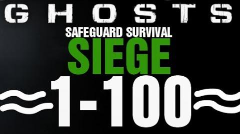 Siege Rounds 1-100 Full Gameplay - Call of Duty Ghosts Safeguard Survival Infinite Completed