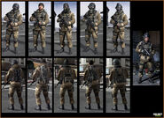 Russian airborne troop models MW3