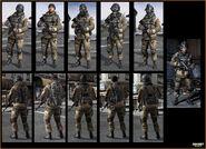 Russian airborne troop models MW3
