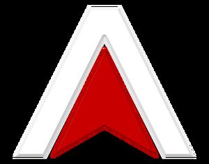 Atlas White on Black Logo