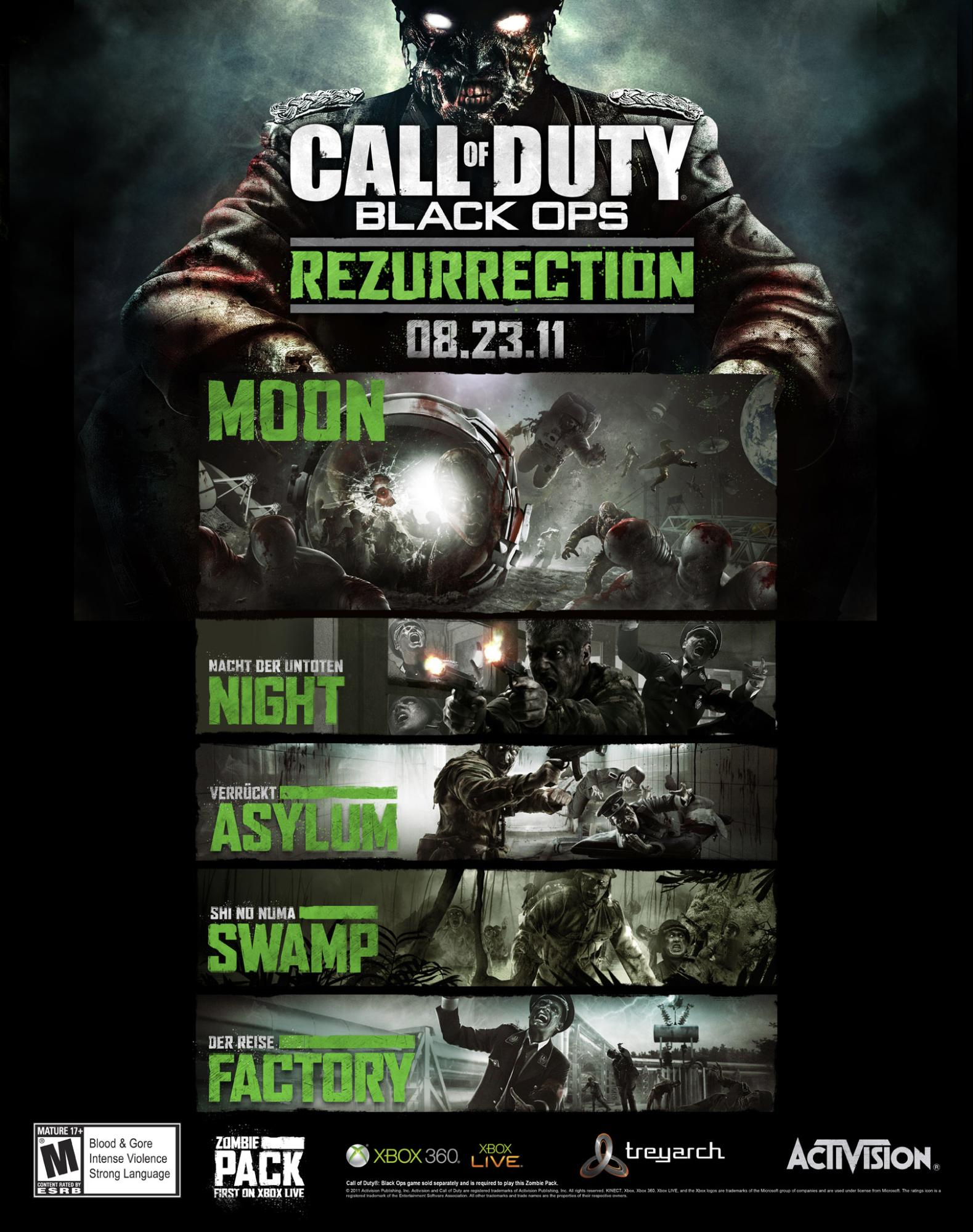 Rezurrection | Call of Duty Wiki | Fandom on call of duty black ops zombies pack, black ops rezurrection map pack, call of duty escalation pack,
