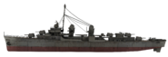 Fletcher-class destroyer model side WaW