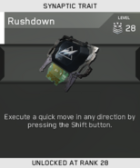 Rushdown Unlock Card IW