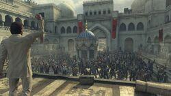 Бойцы на площади