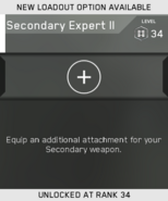 Secondary Expert II Unlock Card IW