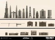 Buildings ConceptArt 3D ShadowsOfEvil BOIII
